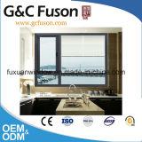 Fenêtre battante en aluminium double vitrage avec moustiquaire