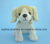 Brinquedo enchido macio do cão do luxuoso com som do cão