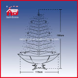 Da luz artificial do diodo emissor de luz do PVC da decoração do jardim árvore de Natal nevando