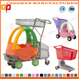 Carretilla plástica de los carros de compras del supermercado de los niños con el asiento (ZHt254)