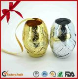 Oro + plata de la cinta hermosa impresas llenas de brillo para hacer huevos de la cinta artificial para el embalaje del regalo