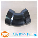 ABS Dwv de taille de 2 pouces ajustant 1/8 courbure