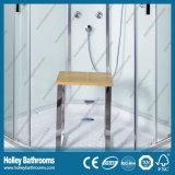 Quarto de chuveiro de vidro da porta desobstruída Tempered popular com a bandeja do chuveiro do ABS (SR213C)