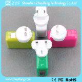 Adaptador substituível do curso do plugue da multi cor com porta do USB (ZYF9016)