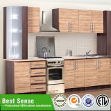 Matt Wood Veneer Gabinete melamina tumbar del gabinete de cocina Made in China