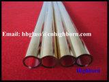 Tubo de cristal cubierto oro caliente de cuarzo de la silicona fundida de la venta