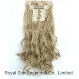 毛の拡張のかつらの製品のRemy卸し売りクリップ