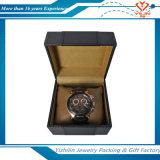 De Uitstekende Zwarte Dozen die van uitstekende kwaliteit van het Horloge van Pu de Doos van de Vertoning verpakken