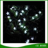 Lumière solaire de corde de jardin extérieur de forme d'étoile de 30 LED