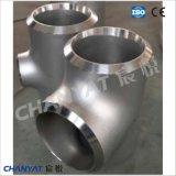 A403 (WP304H, S30409) het T-stuk van het Roestvrij staal ASTM