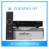 Più nuovo decodificatore satellite originale DVB combinato di Zgemma H5 S2 + supporto Hevc/H. 265 di DVB T2/C