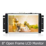 """8 """" SKD Touchscreen를 가진 와이드 스크린 금속 열린 구조 LCD 디스플레이"""