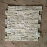 White&#160 pur ; Pierre cultivée par quartzite pour le maçonnage