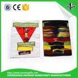 Kundenspezifische Form und gedruckter Firmenzeichen gesponnener Kennsatz