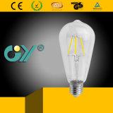Ampoule approuvée de filament de la CE 4W 6W St65 DEL de prix concurrentiels