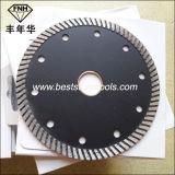 Lâmina de estaca do diamante do segmento da onda CB-13 para o granito (125X2.2X8.0X22.23mm)