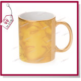 11oz Sublimation Sparkling Golden Color Mug con Photo