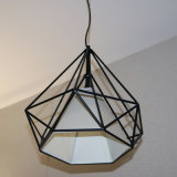 Lámpara pendiente de la venta del polígono caliente del negro para el proyecto del hotel