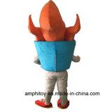 Traje personalizado da mascote do caráter da tocha