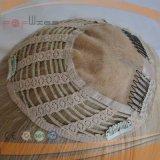 Cutícula loura da parte alta do mono trabalho superior de Handtied Intact na parte do cabelo do Toupee do chapéu de coco das mulheres