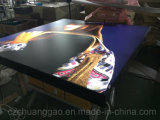 Color negro Fabric Extrusion LED Light Box 1600*H1632m m