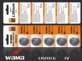 3つのボルトの再充電可能なリチウムAA充電電池ボタンのセル電池米国私達販売のための船リチウムイオン電池