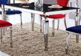 Vector de cena superior moderno del marco de las piernas del acero inoxidable del vidrio Tempered Sj838