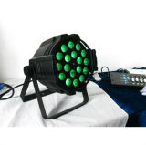 Diodo emissor de luz 18 PCS 10W RGBW 4 em 1 diodo emissor de luz PAR Light Stage Lighting de Zoom