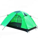 Goedkope Dubbele Laag 2 de Tent van de Persoon, Waterdichte Groene Tente