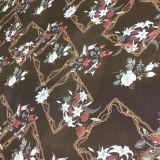 Morbido e cereale del poliestere di scorrimento stampato per il tessuto della sciarpa e del vestito