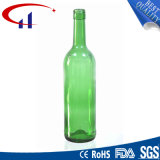frasco de vinho verde da parte inferior 750ml lisa (CHW8061)