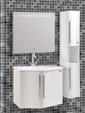 Einfaches Wall Mounted PVC White Bathroom Vanity mit Mirror