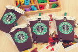 Caja caliente del silicón del café de Starbucks de la historieta para Samsung S6