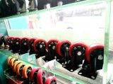 4 Zoll rotes PU-örtlich festgelegtes Laufkatze-Fußrollen-Rad