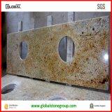 Partes superiores naturais da vaidade do banheiro do granito do ouro de Kashmir com Bullnose