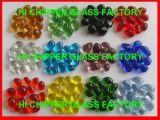 Zerquetschte dunkle bernsteinfarbige Glaschips