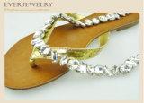 Encadenamiento cristalino de la taza del Rhinestone para los deslizadores, zapatos, 7*15+Ss29