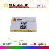 MIFARE respetuoso del medio ambiente ultraligero, tarjeta del acceso de Ntag213 NFC con la muestra libre