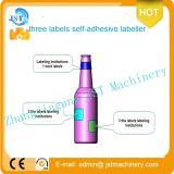Máquina de etiquetado adhesiva de cristal automática llena del palillo de la botella redonda