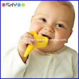 Personalizar o Toothbrush da banana do bebê de Teether dos miúdos do silicone do logotipo do tipo