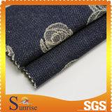 Tessuto del jacquard del denim del ringrosso dello Spandex del cotone (SRSCSP 1844)