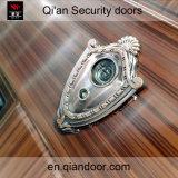Puerta de acero revestida de la seguridad del polvo doble de la hoja con Peephole