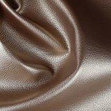 Tessuto di cuoio sintetico del cuoio del sofà del PVC del reticolo del litchi per mobilia (806#)