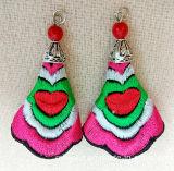 Ornamentos clássicos de vestuário exótico Brincos de bordados coloridos