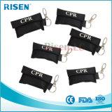 Écran protecteur de face à sens unique de CPR avec des gants