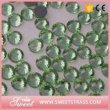 Ss20 funkelnder rückseitiger Folied Peridot-Kristallglas-Stein für Kleid