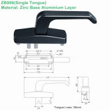 Single in lega di zinco Tongue Handle per Door (ZB006)