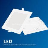 6W, 9W, 12W, 15W, 20W, 25W luz del panel del LED, luz de techo Baño Cocina