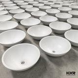 衛生製品白いカラー固体表面の石造りのアクリルの洗面器