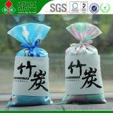 Saco de bambu natural de suspensão impresso logotipo personalizado do carvão vegetal de Moso